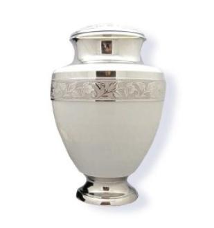 Elegant Pearl White Urn