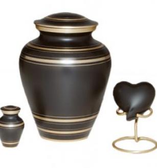 Elegant Black Urn